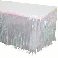 Way to Celebrate Iridescent Foil Fringe Table Skirt