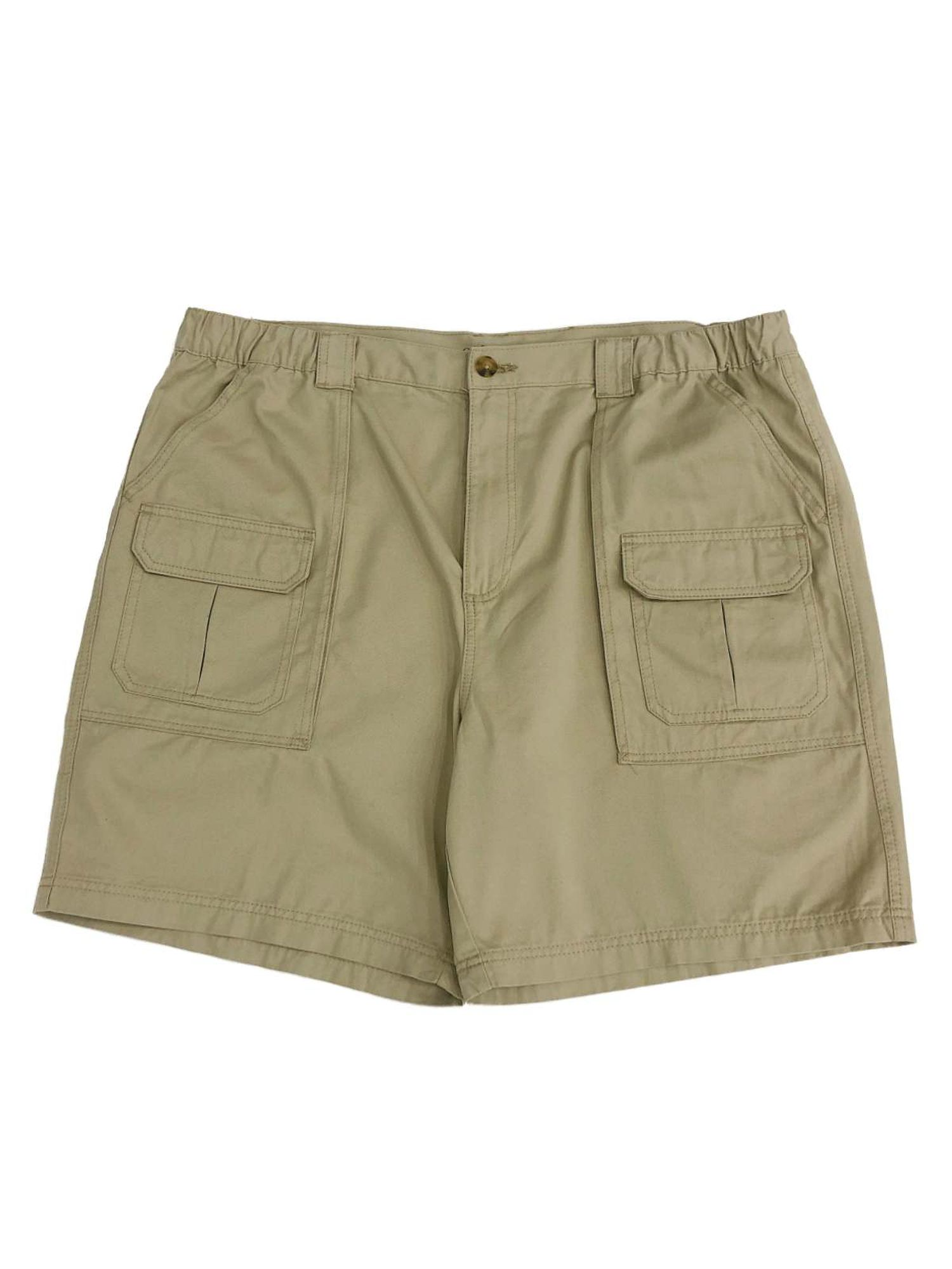 New Croft /& Barrow Men/'s Relaxed-Fit Side-Elastic Waistband Cotton Cargo Shorts