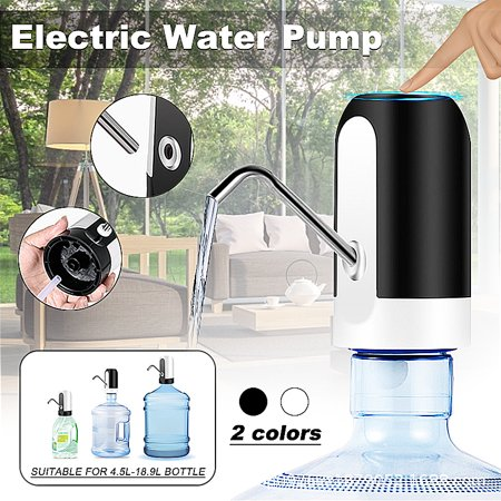 Rechargeable Automatic Electric Water Dispenser Drinking Bottle Water Pump Dispenser Switch with LED Light for Home Kitchen Office (Fits Most 1.18-5 Gallon Water