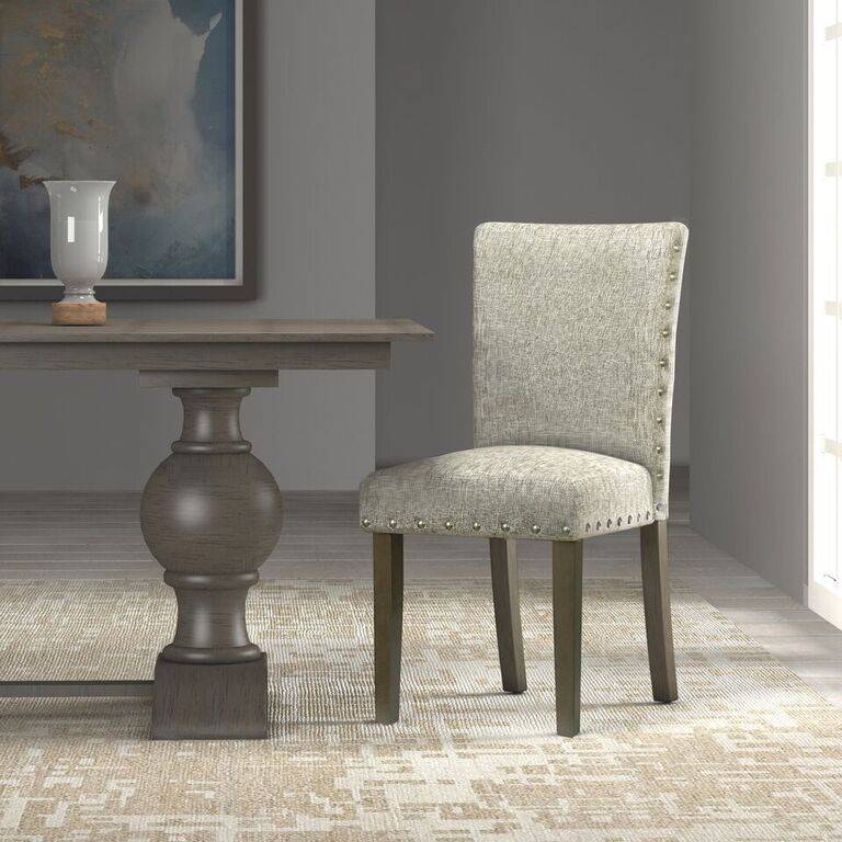 HomePop Classic Parsons Chair with Nailhead Trim (Set of 2)