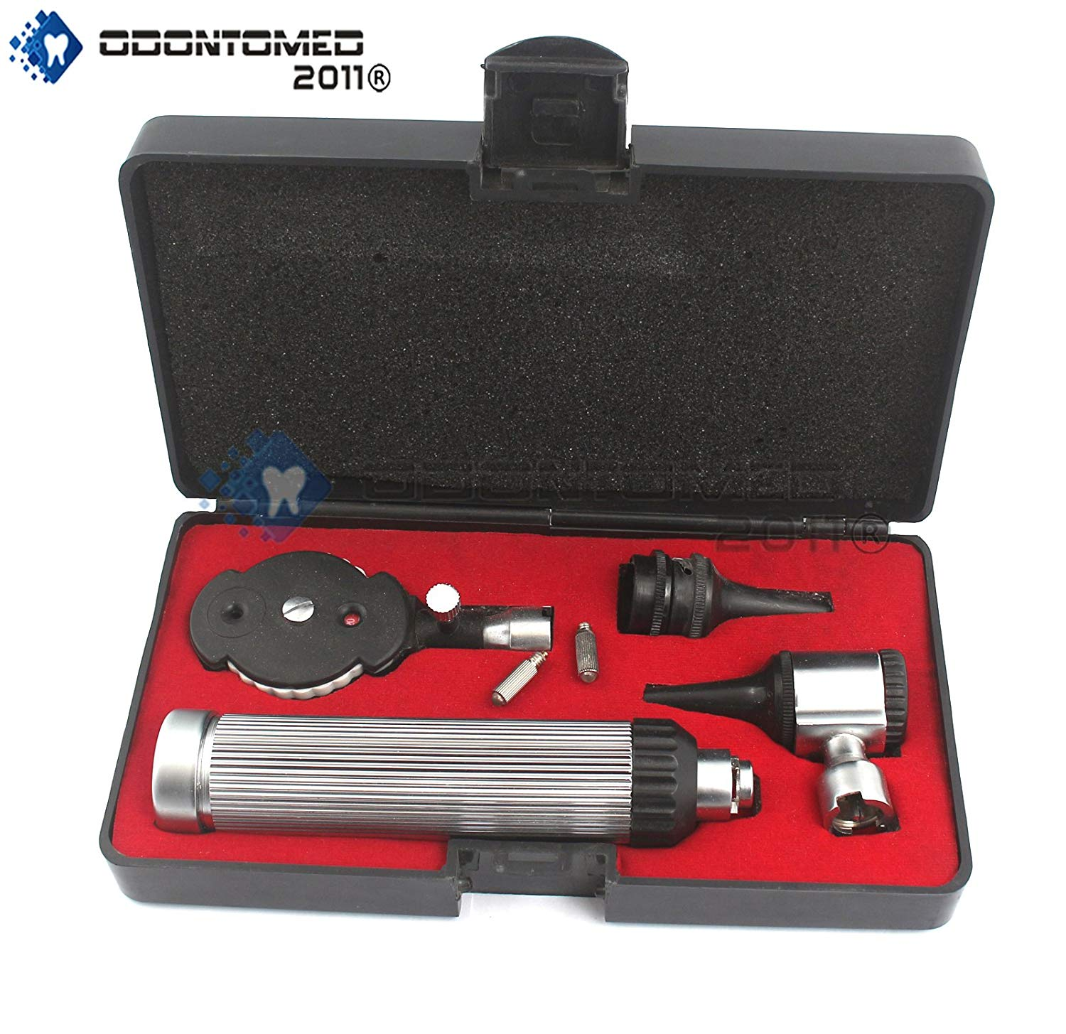 Odontomed2011® Otoscope Set Ent Instruments With ,2 Free Bulb ,free Carrying Case,lot Of Extra Quality Instruments