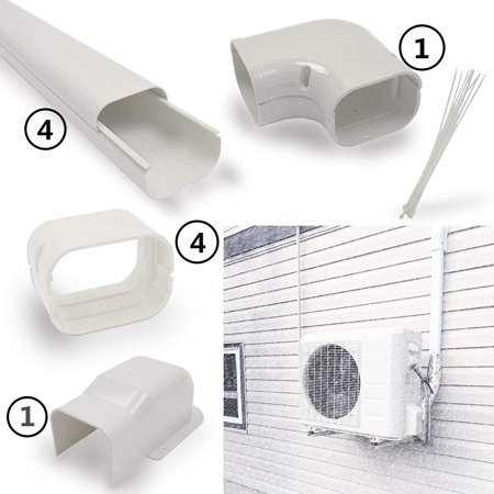 Jeacent 4 14 Ft Air Conditioner Decorative Pvc Line Cover Kit For Mini Split And Central Air Conditioners Heat Pumps Tubing Cover Set Walmart Canada