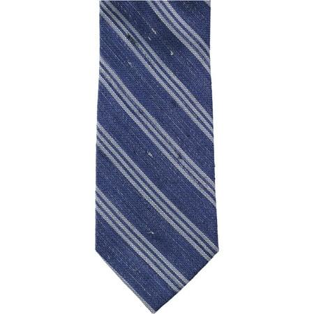 Tommy Hilfiger Mens Sunroom Stripe Self-tied Necktie, Blue, One Size