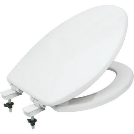 Bemis Plastic Elongated Toilet Seat Whisper Close And Easy-Change Hinge ()