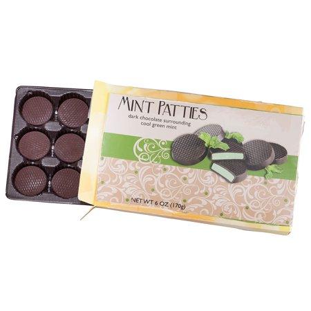 Chocolate Patties - Dark Chocolate Mint Patties, 6 oz.