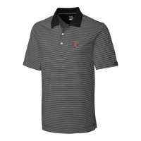 Texas A&M Aggies Cutter & Buck Big & Tall Trevor Stripe DryTec Polo - Black/Gray