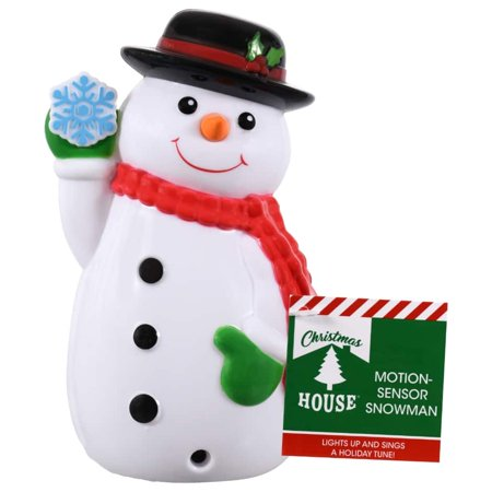Christmas House Motion-Sensing Plastic Singing Snowmen, 5.75 in. ()