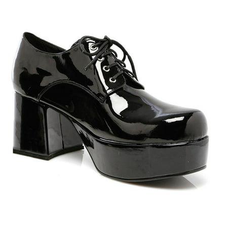 Ellie Shoes E-312-Pimp Men 3 Heel Platform Shoe XL / White (Mens Platform Shoes)