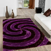 Allstar Purple Gy Area Rug With Spiral Design Contemporary Formal Casual Hand Tufted