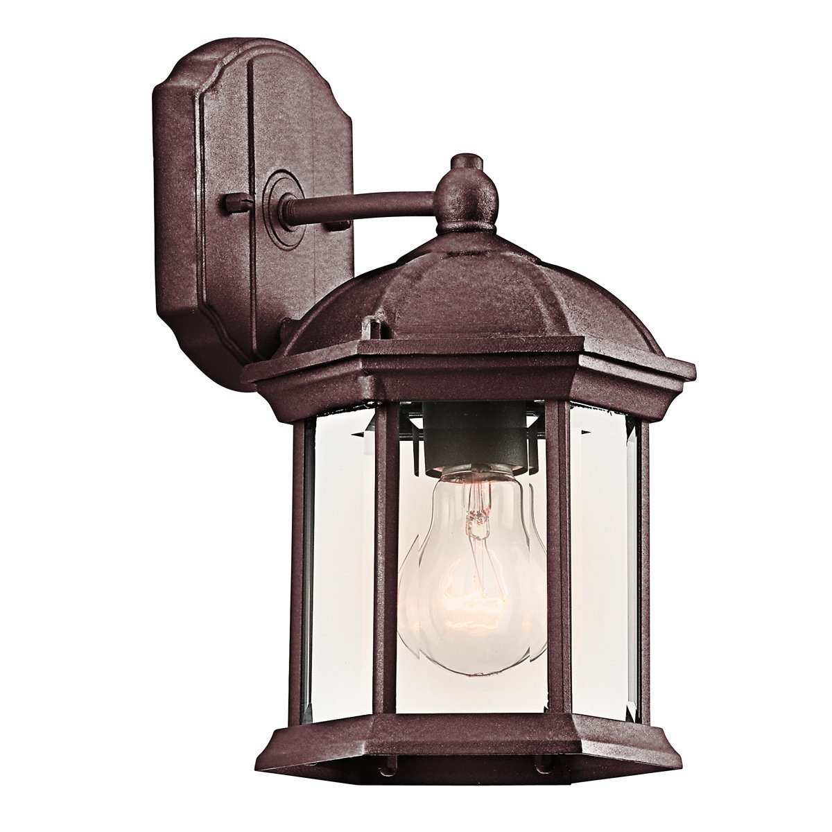 49183BK One Light Outdoor Wall Mount, Width: 6.5-Inch - Projection: 7-Inch - Height: 11-Inch By Kichler,USA