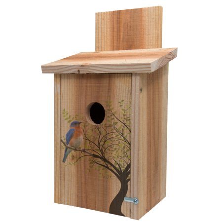Bird Wash House - Cedar Blue Bird House Decorative Tree