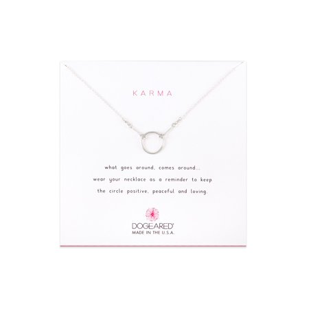 Dogeared Best Mom Necklace - Dogeared Karma Sterling Silver Necklace, 16