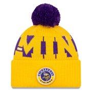 Minnesota Vikings New Era 2020 NFL Sideline Sport Pom Cuffed Knit Hat - Gold/Purple - OSFA