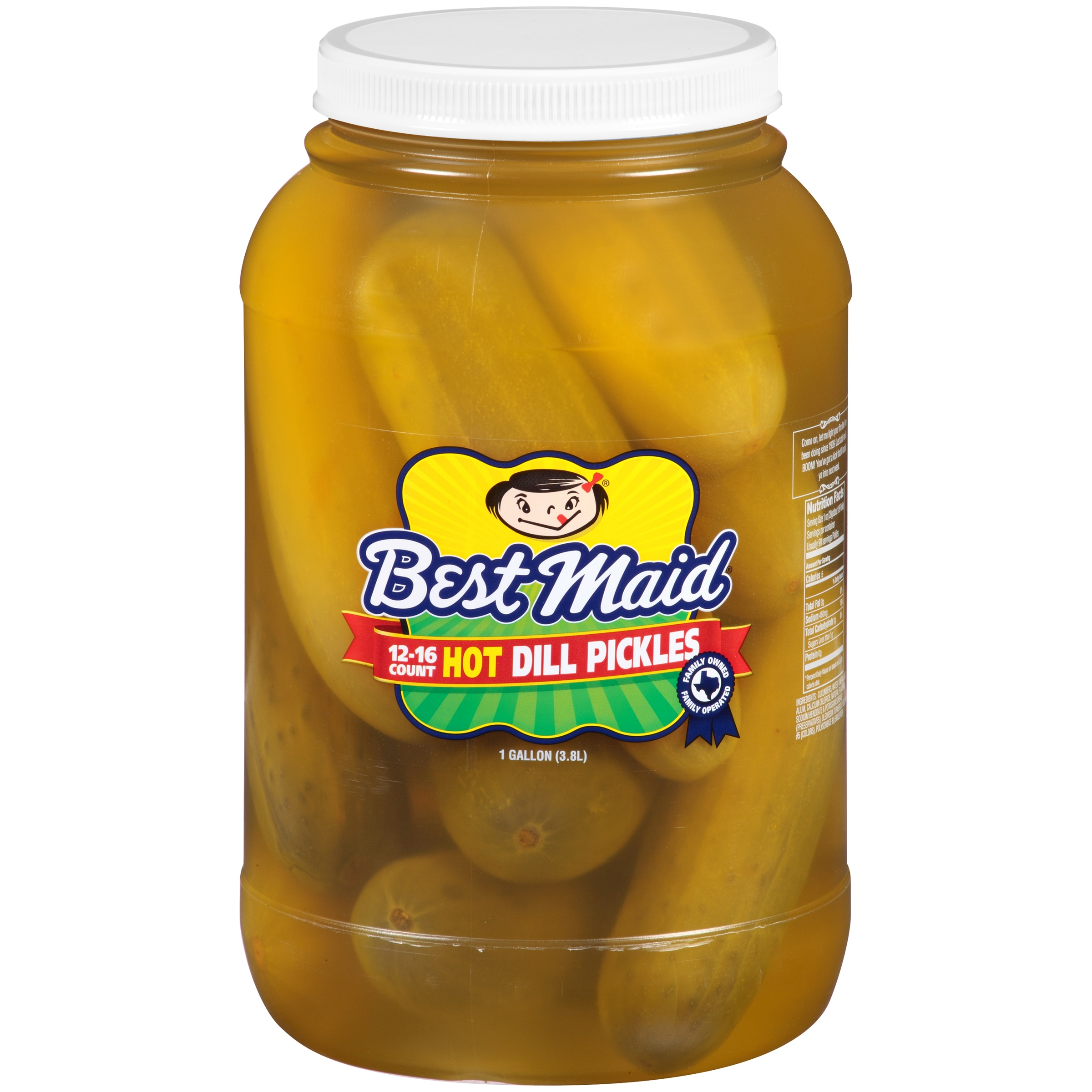 Best Maid Hot Dill Pickles 1 gal. Plastic Jar by BEST MAID PRODUCTS INC