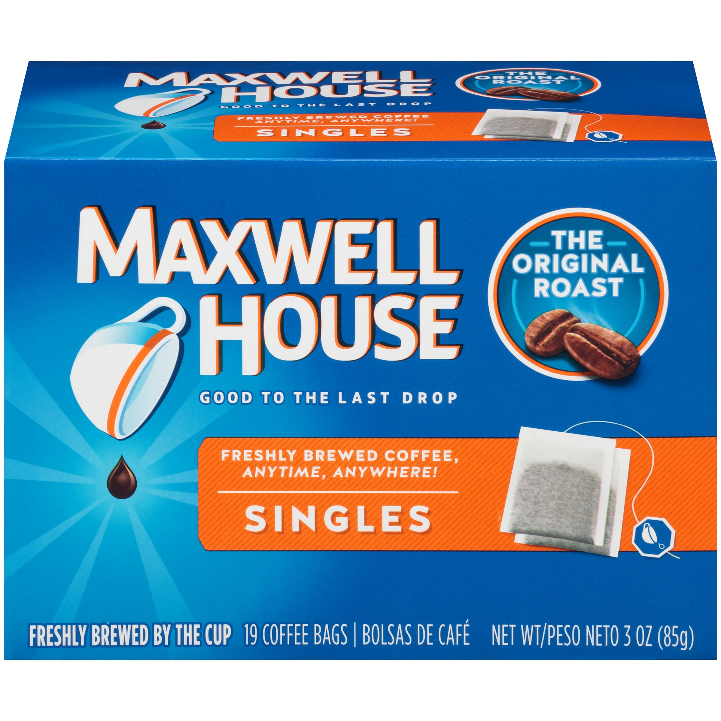 Maxwell House Singles Original Roast Coffee Bags 19 ct Box
