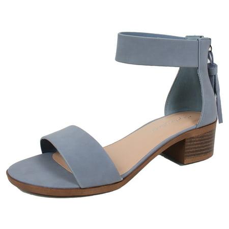 290229b62f0d City Classified - City Classified Women s Open Toe Ankle Strap Tassel Low  Block Heel Sandal - Walmart.com