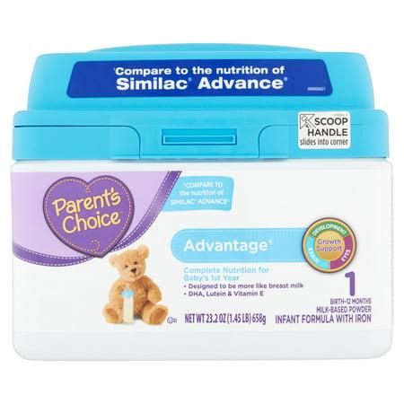 Parents Choice Advantage Infant Formula With Iron  23 2Oz