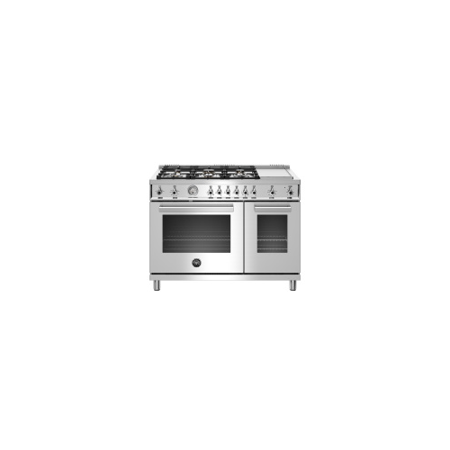 Bertazzoni 48 Professional Series range - Gas Oven - 6 brass burners + griddle - LP version - PROF486GGASXTLP