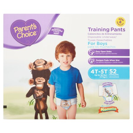 Parents Choice 52 Training Pants For Boys 4T 5T Up To 35Lbs