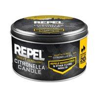 Repel Insect Repellent Citronella Candle, Silver, 10-oz