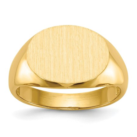 29ccf14e018d30 Versil - Men's 14 Karat Gold Tapered Signet Ring - Walmart.com