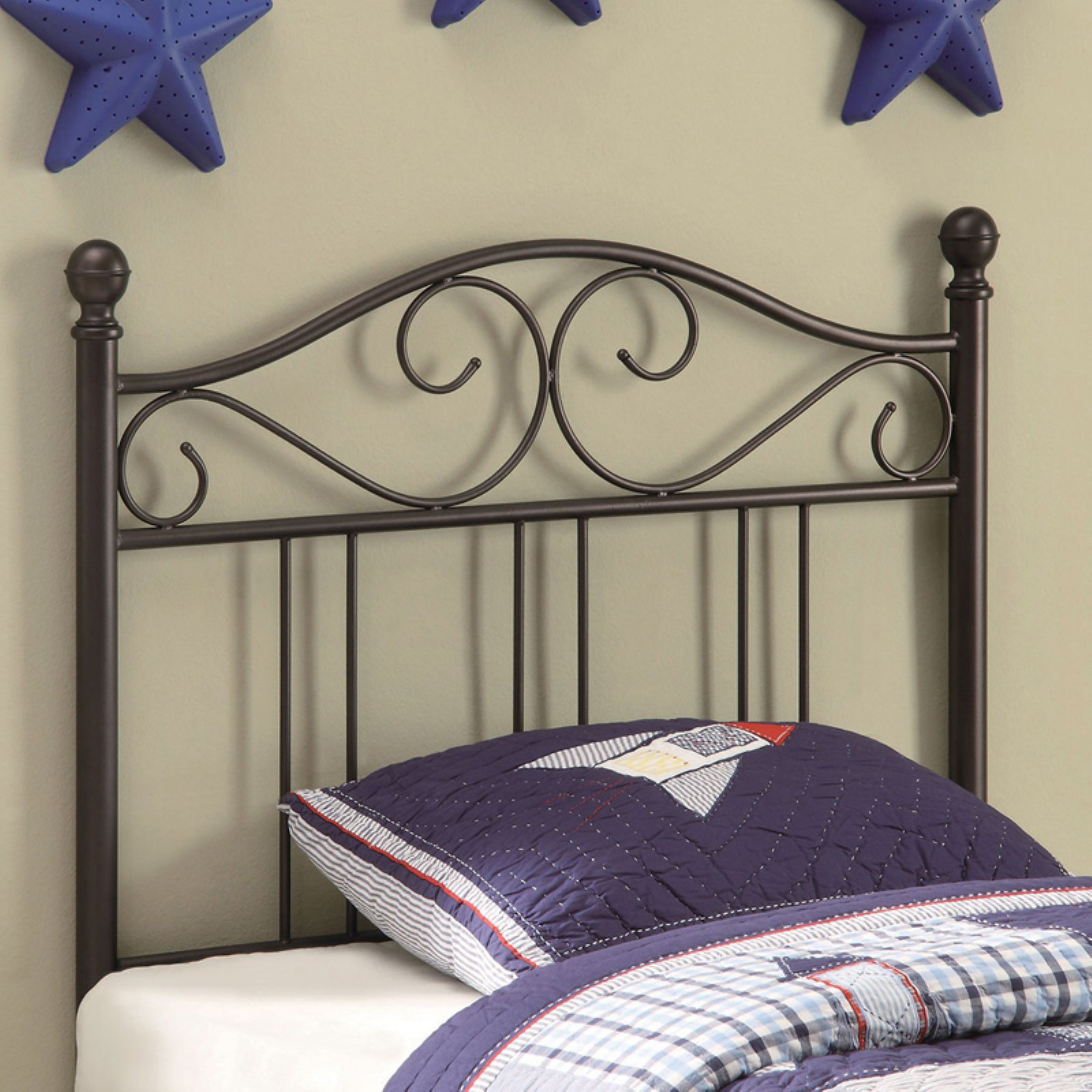 Coaster Furniture Youth Headboards Transitional Twin Metal Headboard - Brown