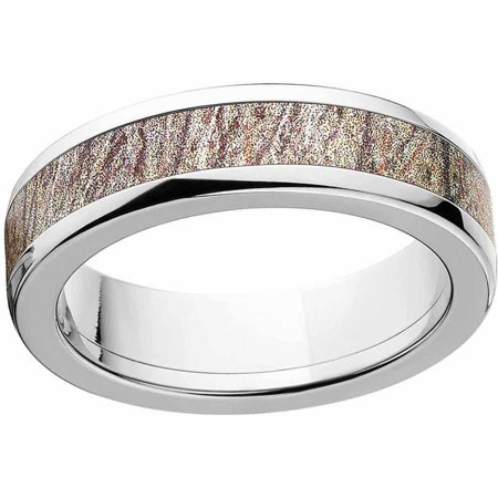 Mossy Oak Brush Men's Camo Stainless Steel Ring with Polished Edges and Deluxe Comfort Fit](Camo Ring)