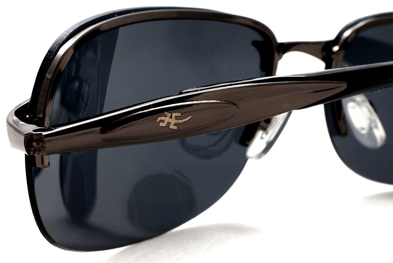 fa1ad71baad Unisex Polarized Semi-Rimless Classic Stylish Sport Sunglasses - Cool Factor  - Black - - Walmart.com