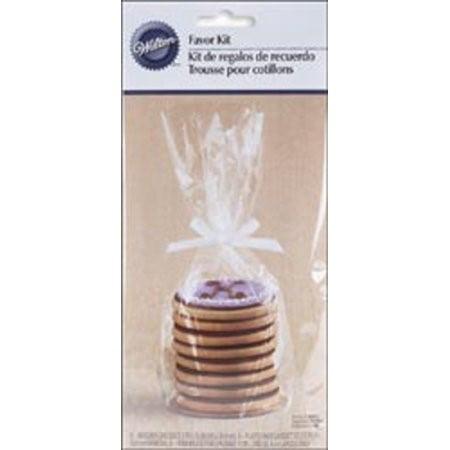 Wilton Favor Kit ((3 Pack) Wilton Cookie Treat Bag Plate Kit, 8)