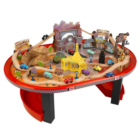 KidKraft Disney Cars Radiator Springs Race Track Set and Table, Ages 3+ | 17979