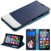 For Lumia 640 T-Mobile/MetroPCS Blue/White MyJacket wallet (with card slot)