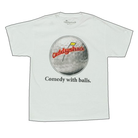 Caddyshack Comedy With Balls Funny Movie Adult T-Shirt Tee: Large - Caddyshack Carl Spackler