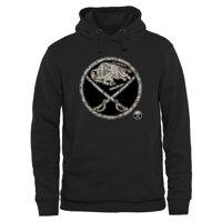 Men's Buffalo Sabres Black Rink Warrior Pullover Hoodie