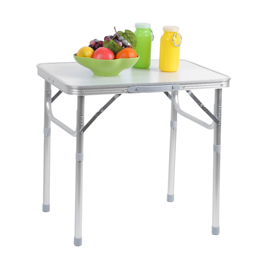 Folding Aluminum Height Adjustable Table Picnic Party Dining Camping Table by Generic