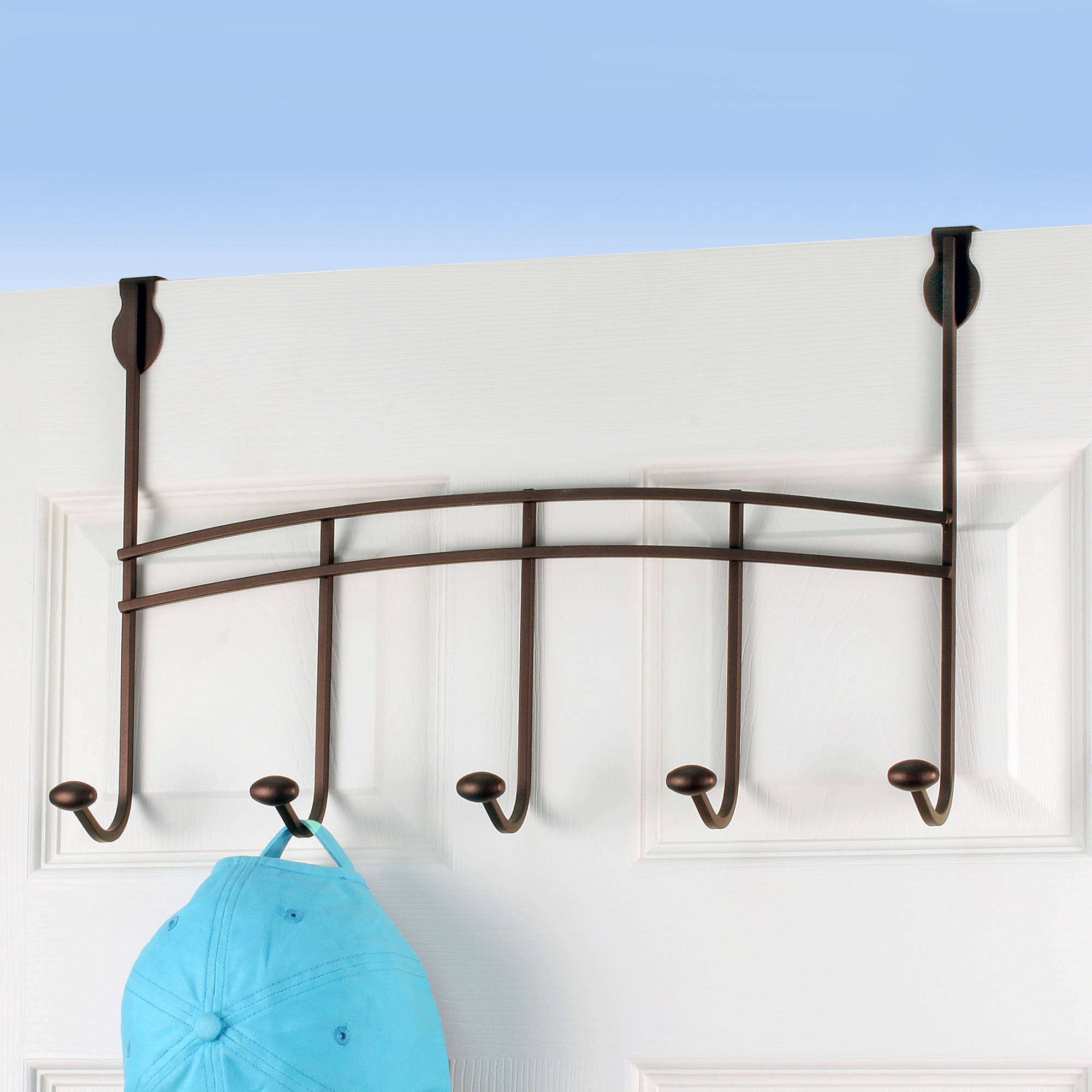 Spectrum Duchess Over-the-Door 5-Hook Rack
