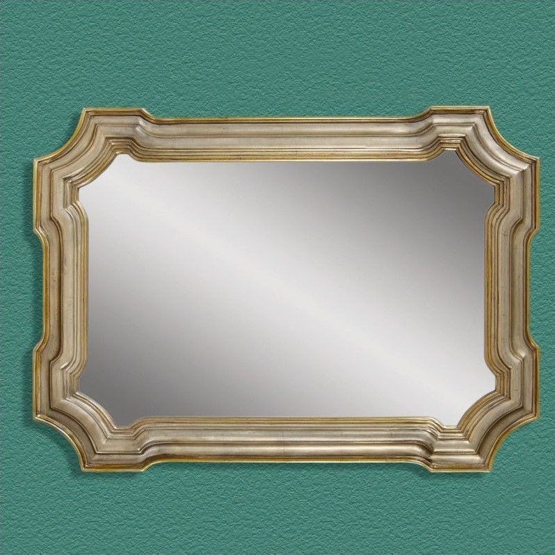 Bassett Mirror Angelica Wall Mirror in Silver and Gold by Overstock