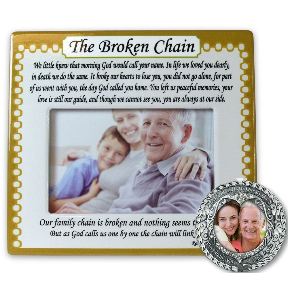 Memorial Frame And Ornament Set The Broken Chain Poem 4 X 6