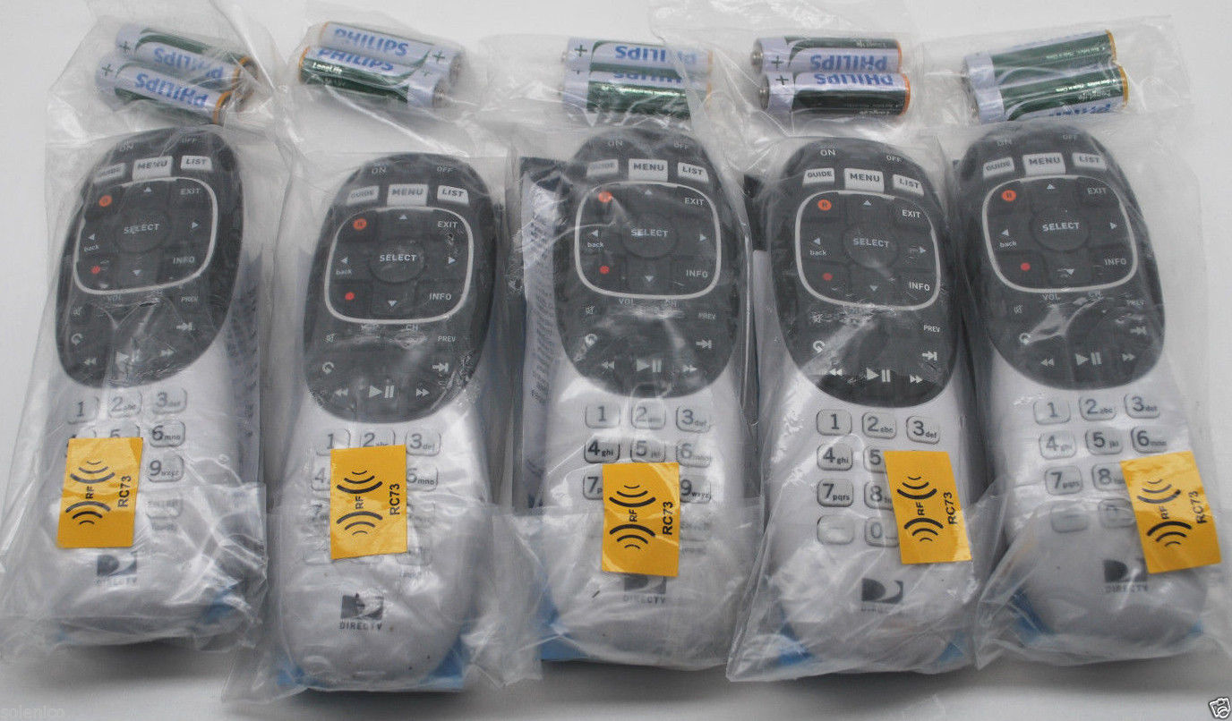 40 DIRECTV RC73 IR RF REMOTE CONTROL FOR GENIE HR44 & CLIENT C41 W BATTERIES New by DirecTV