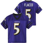 Mens Baltimore Ravens Joe Flacco Majestic Purple Hashmark II T-Shirt