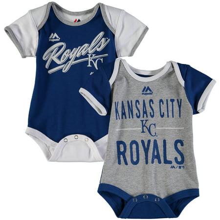 Kansas City Royals Majestic Newborn & Infant 2-Piece Bodysuit Set - Royal/White - Halloween Royal Baby