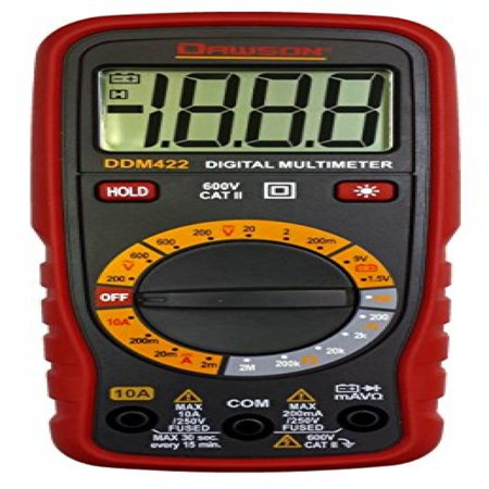 Display Digital Multimeter - Dawson DDM422 Compact Digital Multimeter w/ LCD Display Back Light