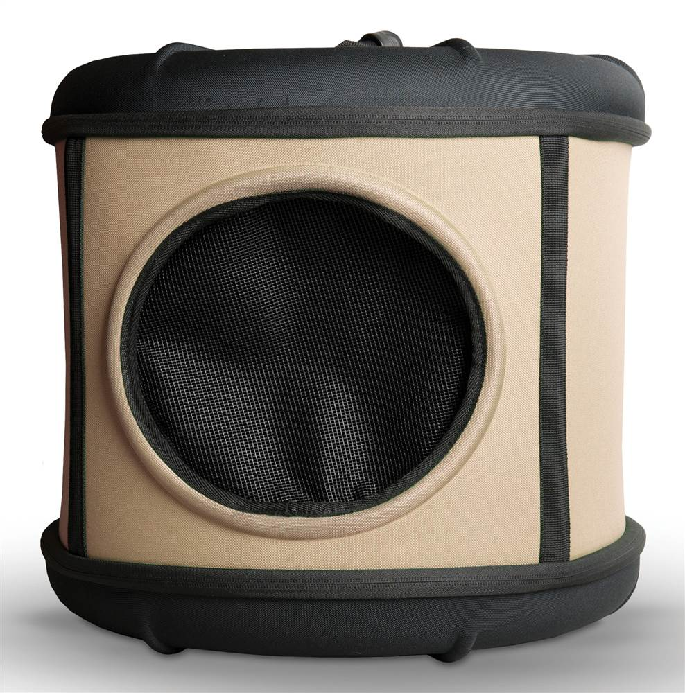 Pet Capsule in Tan and Black