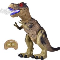 """Remote Control Dinosaur for Kids, Electronic Walking & Spray Mist Large Dinosaur Toys with Glowing Eyes, Roaring Dinosaur Sound,18.5"""" Realistic T-Rex Toy for Boys F-248"""