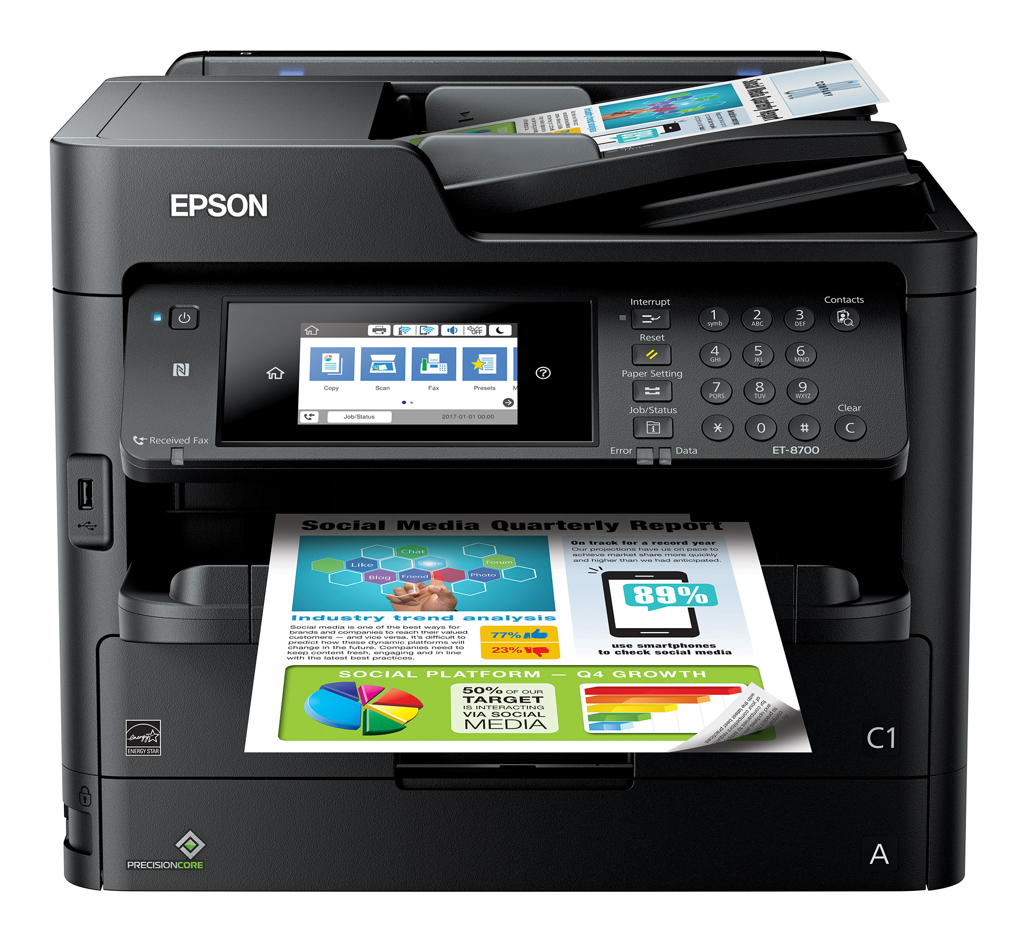 Epson Workforce Pro Et 8700 Ecotank Wireless Color All In One