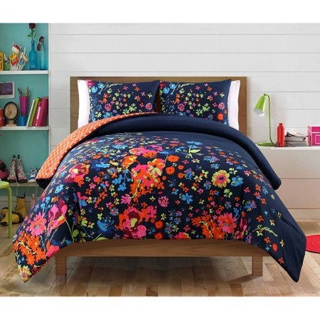 VCNY Bianca Multi-Colored Reversible Floral Bedding Comforter Set