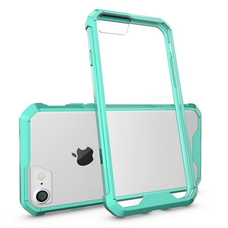iPhone 7 Case (Mint Green) - Air Hybrid Protective Case Ultra Slim Clear Hard PC Back Panel TPU Bumper Anti-Scratch Shockproof Hybrid Drop Protection Cover for Apple iPhone 7 2016
