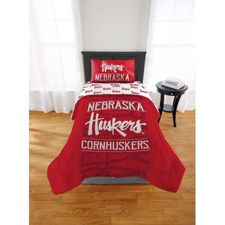 NCAA Nebraska Cornhuskers Affiliation Twin & Full Comforter Set, 1 Each