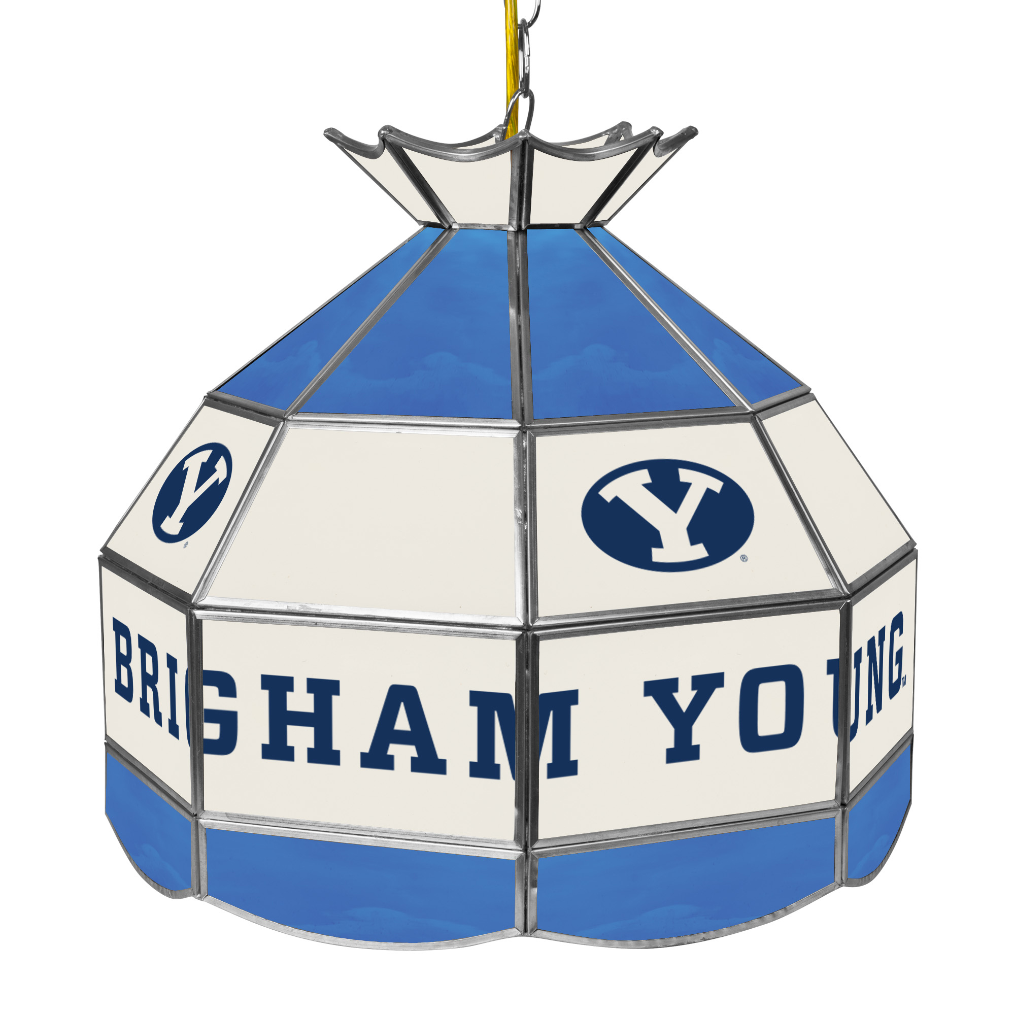 NCAA BYU Brigham Young University 16 Inch Handmade Stained Glass Lamp