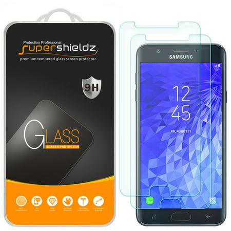 [2-Pack] Supershieldz for Samsung Galaxy J7 (2nd Generation)/J7 V (2nd Gen) Tempered Glass Screen Protector, Anti-Scratch, Anti-Fingerprint, Bubble Free ()