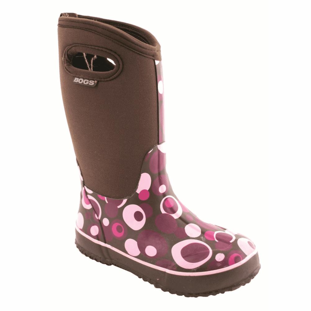 Bogs Fashion Classic High Bubble Chocolate Kids Sz9 by